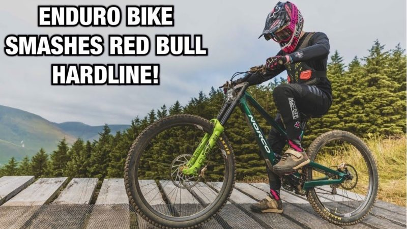 MY RED BULL HARDLINE RACE RUN! (ON MY ENDURO BIKE)