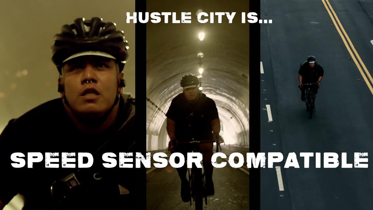 हसल सिटी स्मार्ट ट्रेनर के बिना वर्चुअल बाइक रेसिंग के लिए स्पीड सेंसर संगतता जोड़ता है