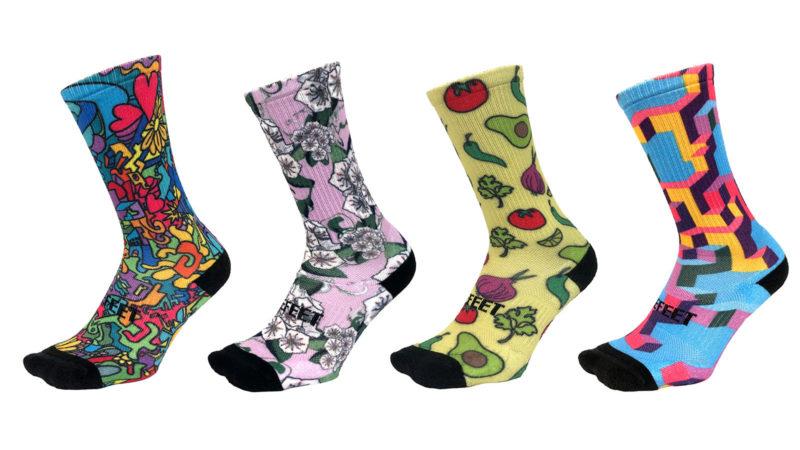 DeFeet PrintMySock lets you create one-off custom printed cycling socks