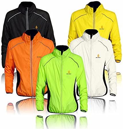 Fietsjas voor heren en dames, winddicht fietsjack met reflecterende bandjes en ademend mesh, waterdichte ultralichte sportkleding voor fietsen, hardlopen, wandelen, bergbeklimmen