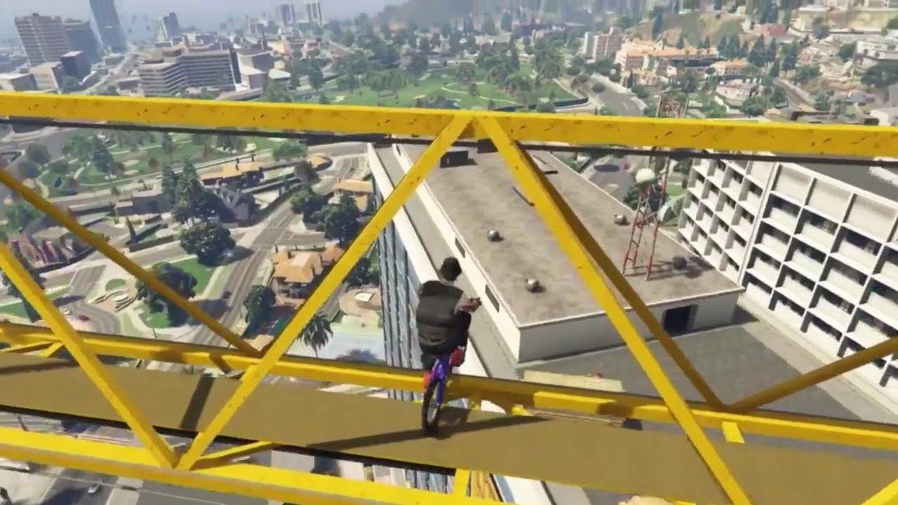 Amazing GTA 5 Bike Stunt! (GTA 5 #Shorts)