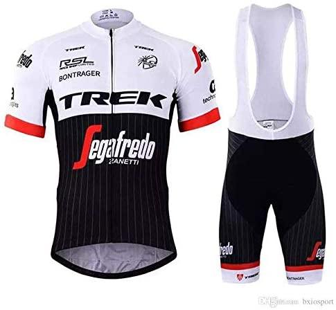 ADKE Homme Été Maillot Cyclisme Manches Courtes, Cuissard Vélo avec 5D Gel Coussin pour Cycliste et Vêtement de Vélo Respirant à séchage Rapide