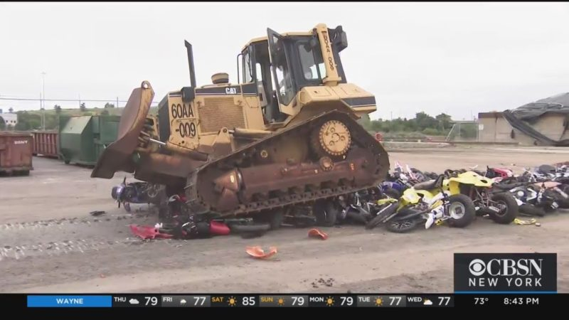 Dirt Bikes Crushed On Staten Island As City Continues Crackdown On Illegal Rides