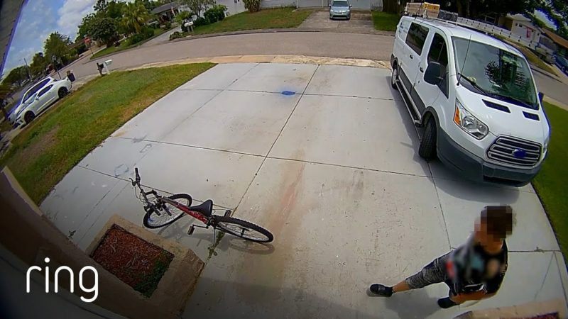 Watch Why Would-Be Bike Thief Decides Running Away Is The Better Option | RingTV