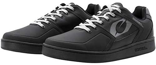 O'NEAL   Mountainbike-Schuhe   MTB Downhill Freeride   Gleichgewicht zwischen Grip & Fußrepositionierung, Waben-Sohle   Pinned Flat Pedal Shoe Edition TBS   Erwachsene   Schwarz Grau