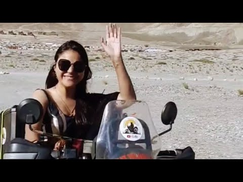 Saree Girl on Himalayan Bike in Ladakh goes viral on #instagram #ladakh #leh #shorts #girlrider