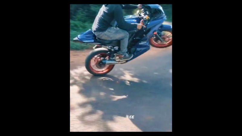 R15 wheelie Failed🥵 #Bike #R15 #wheelie #funny #fail #motoholics