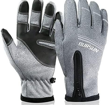 Bursun Winter Gloves, Windproof Waterproof Warm Touchscreen Gloves Men Women, Outdoor Winter Thermal Gloves