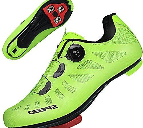 TFNYCT Fietsschoenen Mens Racefiets MTB Fietsschoenen met Schoenplaatjes Lichtgevende Mountain Indoor Racefiets Fietsschoenen
