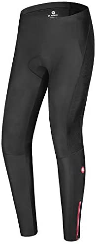 qualidyne Men's Cycling Bike Pants 3D Padded Winter Thermal Cycling Tights Compression Outdoor Riding Bicycle Leggings