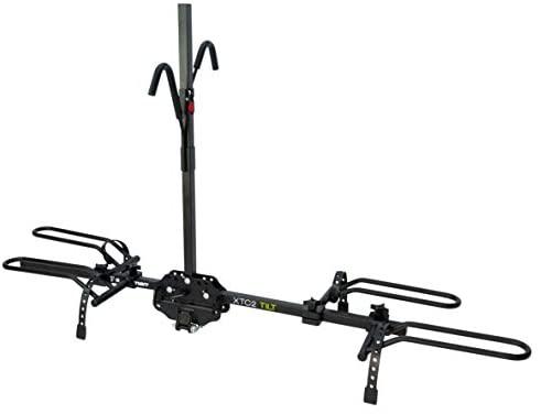 Swagman XTC2 TILT Hitch Mount Bike Rack , Black, 1-1/4″ and 2″ hitch receiver, class 2 or higher