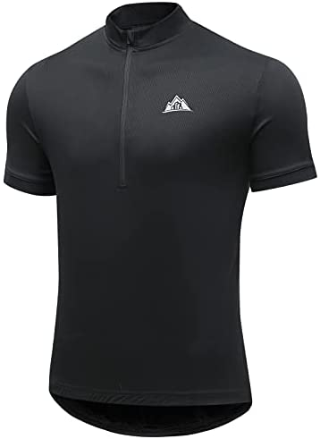 GUOTN Men's Breathable Cycling Jersey Short Sleeve Shirt with 3 Rear Pockets