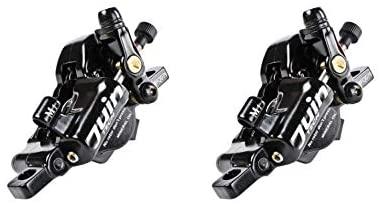 Juin Tech M1 Cable Actuated Hydraulic Bicycle Bike Disc Brake Caliper Set Extra Powerful Hybrid Brake for Road/Mountain/Cyclocross/Gravel/E-Bike/Folding Bike etc. use