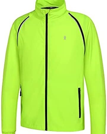 Little Donkey Andy Men's Quick-Dry Running Jacket UPF 50+ Cycling Jacket with Detachable Sleeves