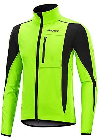 Men's Thermal Fleece Cycling Jacket Bicycle MTB Road Bike Jackets Long Jersey Breathable Reflective Softshell Windbreaker