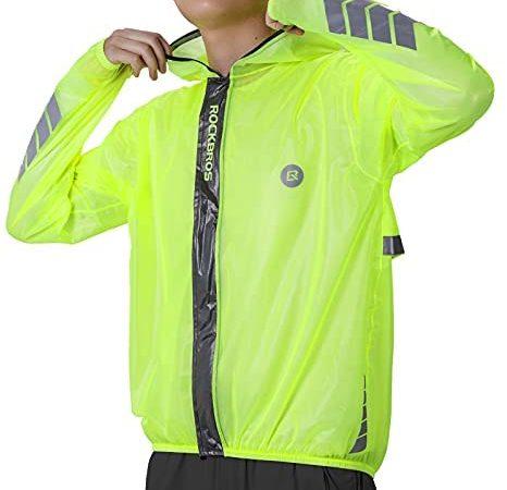 ROCKBROS Cycling Rain Jacket for Men Bike Pants 100% Waterproof Cycling Suit Breathable Cycling Jacket Pants for Heavy Rain