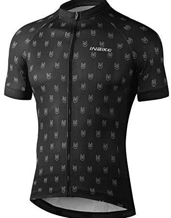 INBIKE Maillot VTT Cyclisme Homme Tenue Cycliste Respirant Manche Courte Séchage Rapide T-Shirt Velo de Route