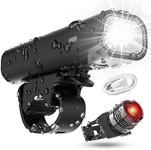 Cincred Bike Lights,USB Rechargeable Front and Back Bike Lights with Runtime 8+ Hours 400 Lumen Bright Cycling,Bike Lights for Night Riding Fits All Bicycles, Mountain, Road