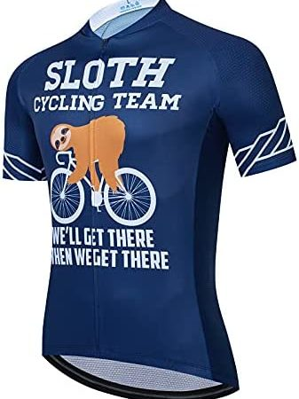 BIKE BEER Sloth Cycling Jersey Funny Cycling Jersey Funny Cycling Top Cycling Short Sleeve