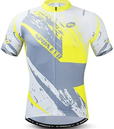 sponeed Men Bicycle Jersey Full Zipper Biking Shirt Cycling Tops Breathable