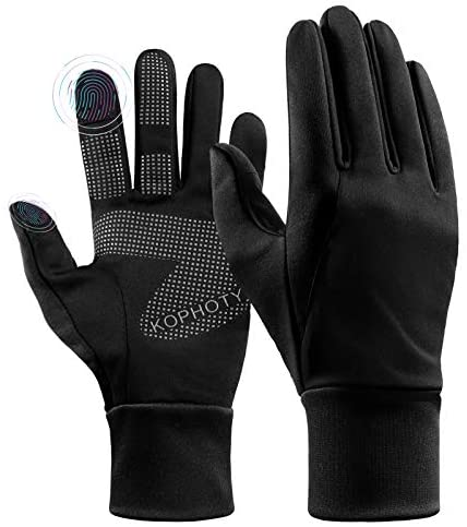 KOPHOTY Winter Gloves Men Women Touch Screen Warm Gloves Water Resistant Windproof Thermal Gloves for Driving Running Cycling Texting