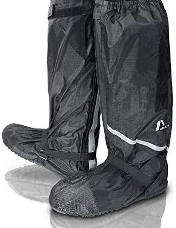 Amazy Regenoverschoenen incl. gratis opbergzak – waterdichte en antislip schoenovertrek met reflectoren voor droge, schone schoenen, ook bij regen, sneeuw of stof