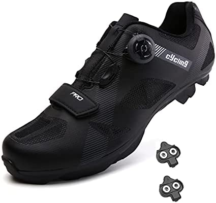 Mountain Bike Shoes Men MTB Shoes SPD New Upgrade Bike Shoes for Men with SPD Premium Peloton Shoes Spin Shoes Men Comfortable and Breathable