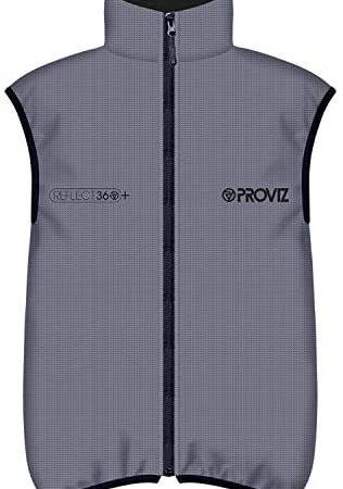 Proviz Reflect360+ Men's Reflective Cycling Vest, Silver