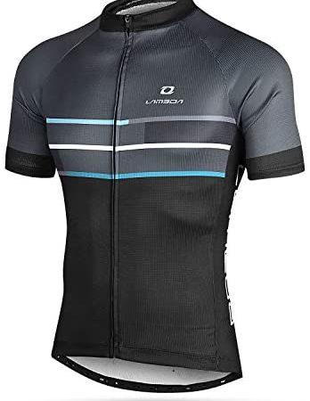LAMEDA Kurzarm Radtrikot Fahrradtrikot Herren T-Shirt Jersey Radsport Funktionsshirt Elastische Atmungsaktive Schnell Trocknen Stoff