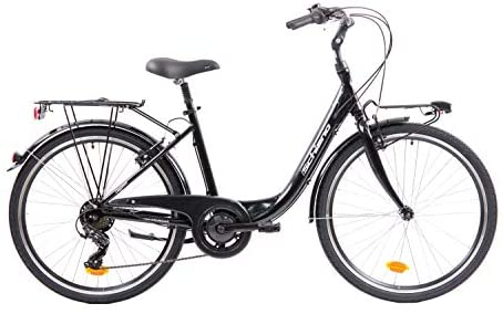 F.lli Schiano Elegance Bicicleta, Women's, Negro-Blanco, M