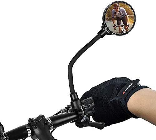 WELLXUNK 360° achteruitkijkspiegel voor fiets, 1 stuks, achteruitkijkspiegel, voor fiets/motorfiets/e-bike/mountainbikes/rolstoel/kinderwagen stuurspiegelset