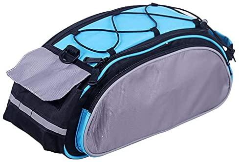 Fiets reflecterende rack tas, 13L fiets achterzitzak, waterbestendige fiets tas, multifunctionele draagtas, blauw