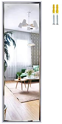 14×48 Inch Full Length Mirror Wall Mounted, Large Body Mirror with Rectangular Framed for Bedroom Bathroom Living Room Decor, White