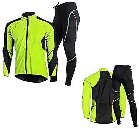 Herren Fahrradtrikot-Set, schnelltrocknende Basisschicht Sport Kompressionskleidung, Thermounterwäsche, für Bergsteigen, Radfahren, Skifahren, Training, Wandern