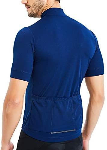 CATENA Men's Cycling Jersey Short Sleeve Shirt Running Top Moisture Wicking Workout Sports T-Shirt