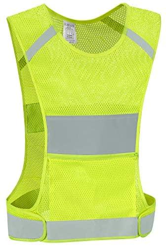 IDOU Reflective Vest Safety Running Gear with Pocket,High Visibility for Running,Biking,Walking,Women & Men