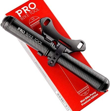 PRO BIKE TOOL Mini Bike Pump Premium Edition – Fits Presta and Schrader valves – High Pressure PSI – Bicycle Tire Pump for Road and Mountain Bikes