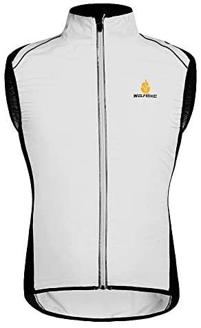 HYSENM Chaleco sin mangas para ciclismo y bicicleta de montaña con logo Tour de France [Cortavientos + Transpirable + Reflectante] Poliéster