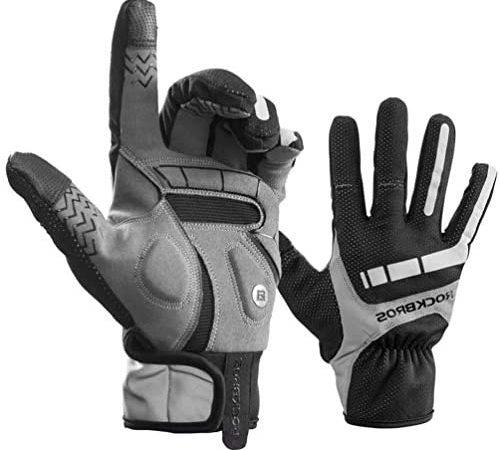 ROCKBROS Handschoenen Lente Herfst Heren Fietshandschoenen Touchscreen Winddichte handschoenen Volledige vinger voor buitensporten Hardlopen, Motorfiets, Fiets Dames Heren