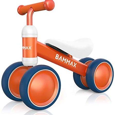 Bammax Bicicleta sin Pedales, Bici sin Pedales Niño, Juguetes Bebes 1 Año, Triciclos Bebes, Correpasillos Bebes 1 Año, Naranja