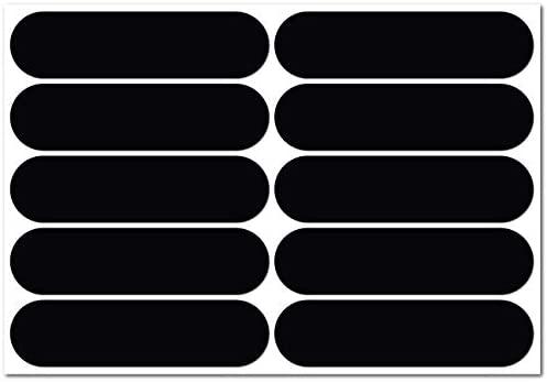 B REFLECTIVE Éco Basic, Kit 10 Autocollants rétro réfléchissants, Visibilité de Nuit, Adhésif Universel, Stickers pour vélo/Poussette/Casque/Moto/Jouets, Bandes 7 x 1,8 cm, Noir