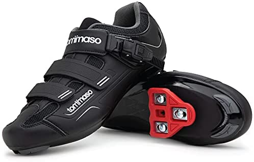 Tommaso Strada 200Dual Cleat Compatible Road Bike, Touring, Indoor Cycling Shoe with Buckle