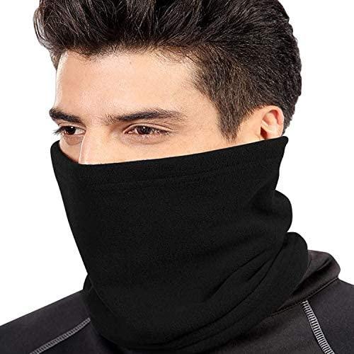 ANGTUO Multifunctionele polaire fleece halswarmer sjaal voor dames en heren, muts voor fietsen, outdoor, sport werk