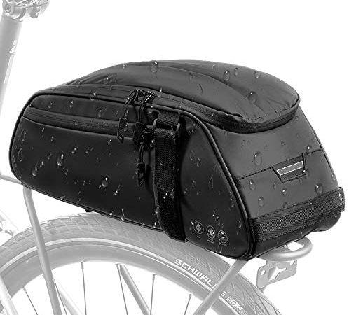 Eyein Fahrrad Multifunktions Reflektierend Satteltaschen, 8L Wasserdicht Gepäckträgertasche Gepäckträger Fahrradträger Tasche für Pendlerreisen im Freien