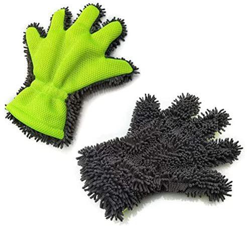 Tweezijdige autoverzorging, velgenborstel, auto, aluminium velgenreiniger, handschoen voor auto-onderhoud, motorfiets, fiets- en velgenhandschoen voor autoreiniging en auto-behandeling