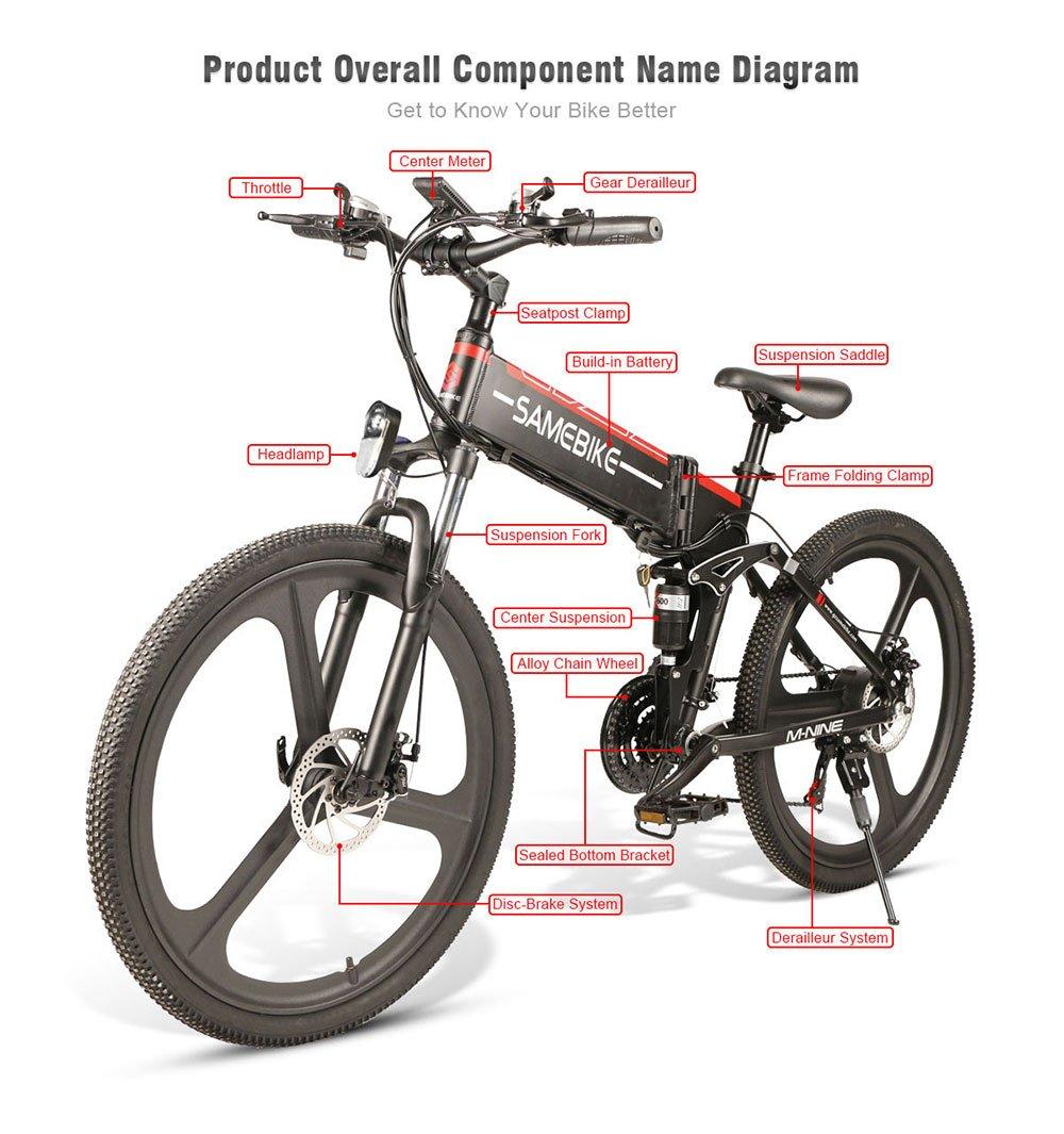 SAMEBIKE Folding Electric Bike