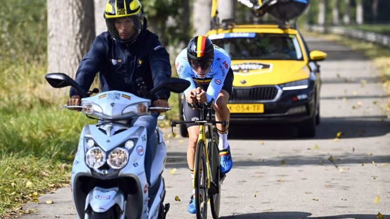 Worlds TT: Van Aert and Evenepoel a notch below Ganna and Kung, says Belgium manager
