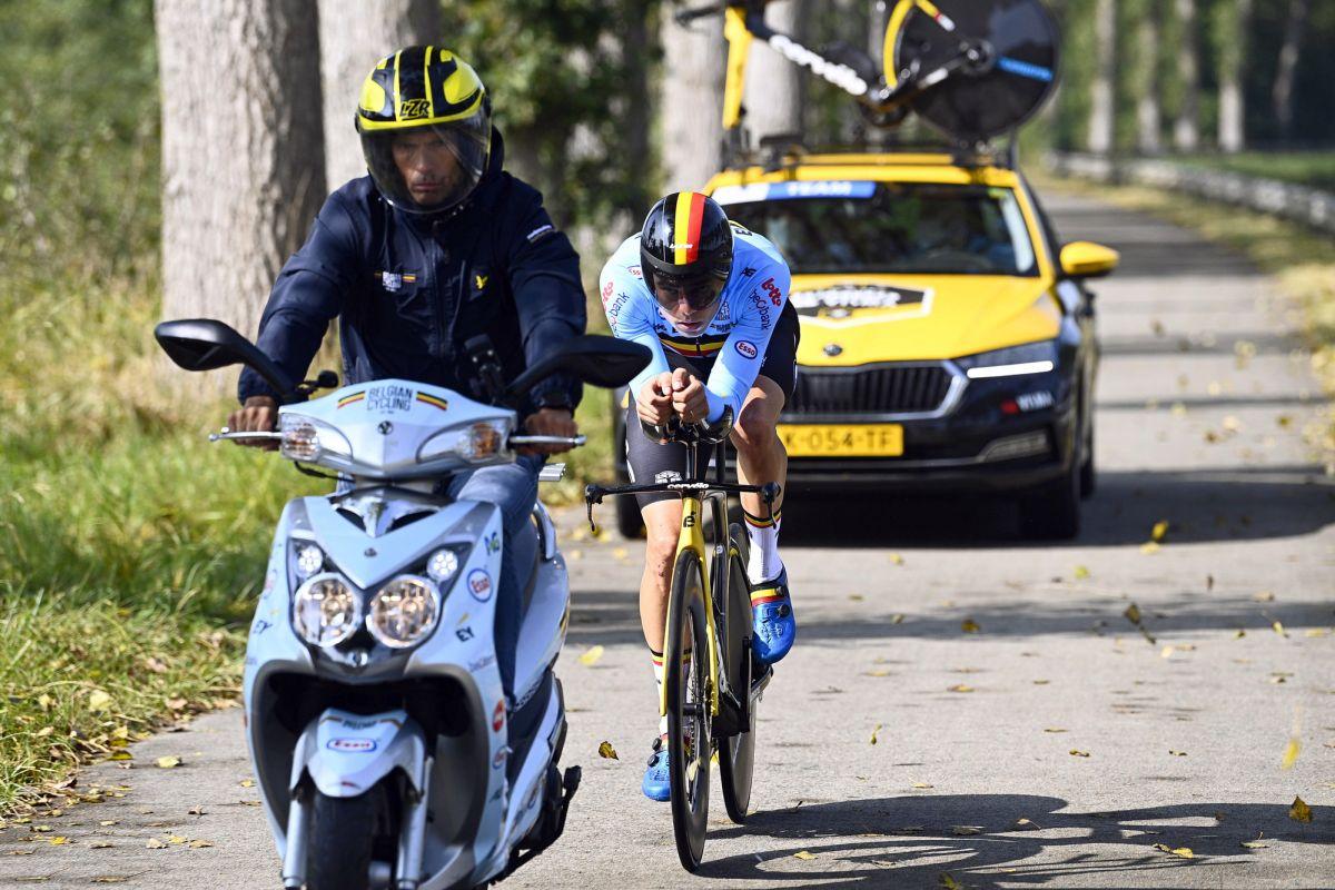 Worlds TT: Van Aert en Evenepoel een tandje lager dan Ganna en Kung, zegt de Belgische manager