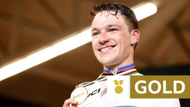 Campionato mondiale di ciclismo su pista: Ethan Hayter del GB vince l'omnium gold