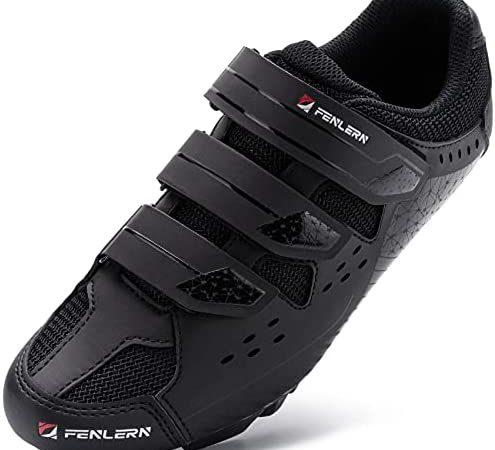 URDAR Zapatillas Ciclismo MTB Hombre Calzado Deportivo de Montaña Antideslizante Transpirable Calzado Ciclismo